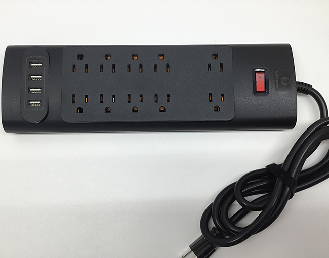 Power strip - Surge protector - 10 outlets in 1 - Multi AC outlets - Multi usb port - Rugged construction