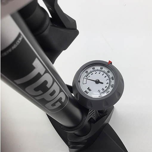 Tough bicycle pump - Floor pump - Tire pump with pressure gauge - Comfortable grip air pump - Hand pump for car tires - Hand pump for balls